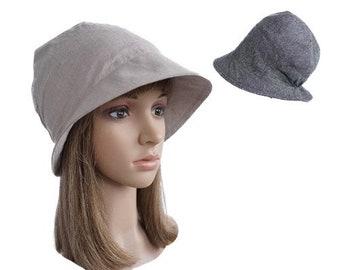 Beauty Women's Cotton Hat Round Brim Cap Cloche Summer Spring