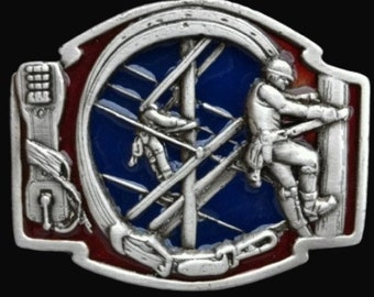 Telephone Electricity Line Cable Guy Pole Climber Belt Buckle Buckles