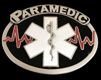 Paramedic Ambulance EMT Medical Profession Belt Buckle