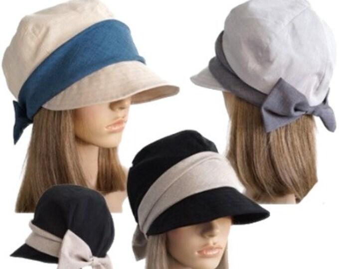 Beauty Women's Flower Cotton Hat Round Brim Cap Cloche Summer Spring