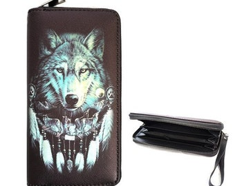 Gili Wolf In The Wind Travel Passport /& Document Organizer Zipper Case
