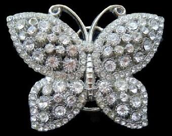 Rhinestone Diamond Glitter Bling Butterfly Belt Buckles
