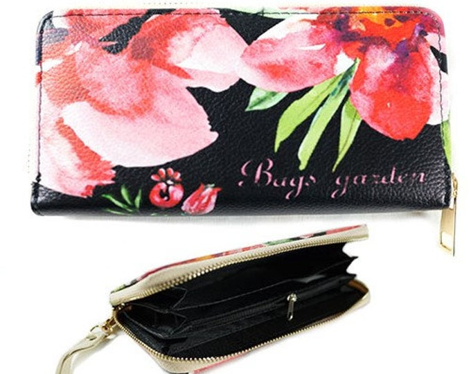 Floral Flower Bug Garden Fashion Women's Zipper Clutch Wallet