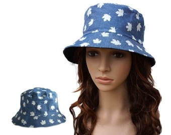 Women's Men's Bush Bucket Boonie Hat Fishing Summer Sun Beach Cap Canada Maple Leaf