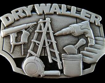 Drywaller Belt Buckle Construction Worker Plaster Tools Equipment Belt Buckle