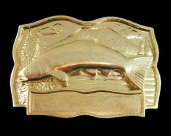 Fish Fishing Salmon Bass Bait Fisherman Engravable Belt Buckle