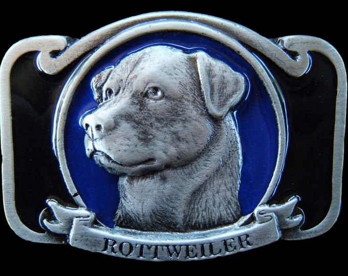 Rottweiler Pet Dog Belt Buckle Animal Rottweilers Dogs Pewter Belts & Buckles