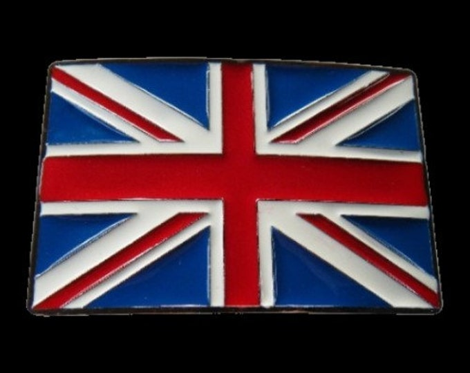 Union Jack UK British Flag Belt Buckle Great Britain English England Flags Belts Buckles