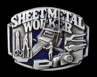 Sheet Metal Worker Tools Working Trade Profession Belt Buckle