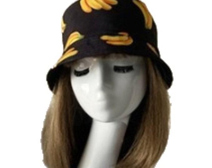 Banana Bananas Bucket Hat Cap Hip Hop Fishing Fisherman Unisex Hats