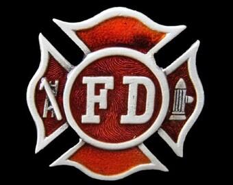 FD Fire Dept. Fireman Fire Fighters Sign Belt Buckle