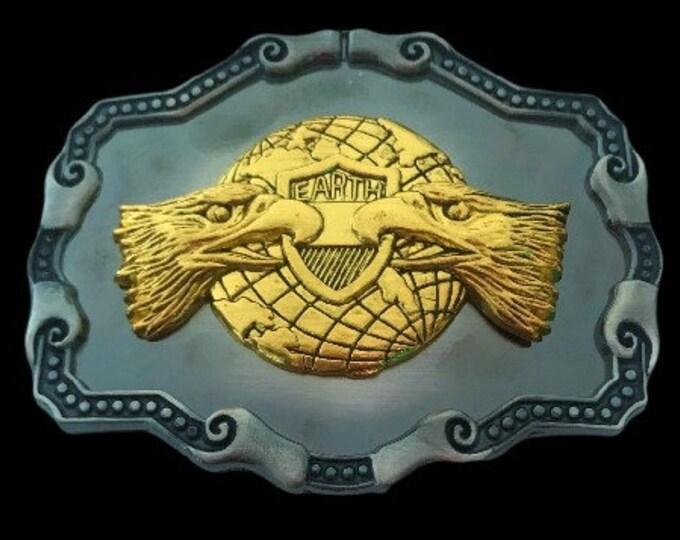 Eagle Two Heads Belt Buckle Globe Shield Dowble Head Eagles Belts Buckles