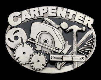 Carpenter Saw Belt Buckle Circular Handsaw Hammer Tools Quality Profession Belts & Buckles