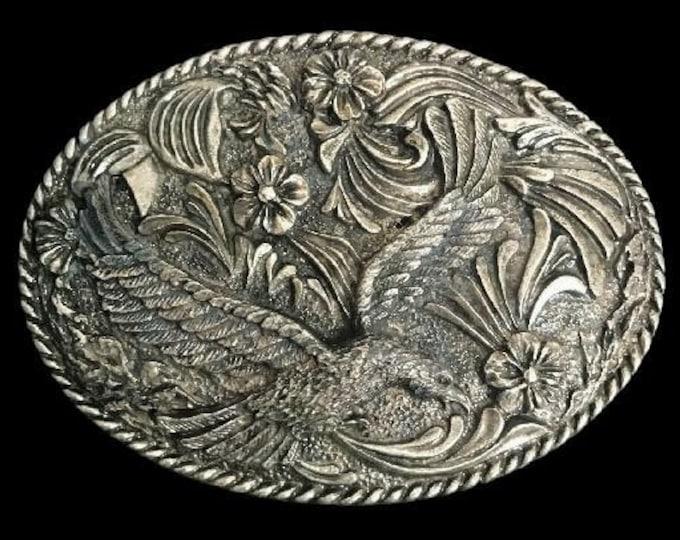 Native Bald American Eagle Prey Bird Belt Buckle