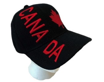 Canada Canadian Flag Baseball Hat Cap Red Mapleleaf