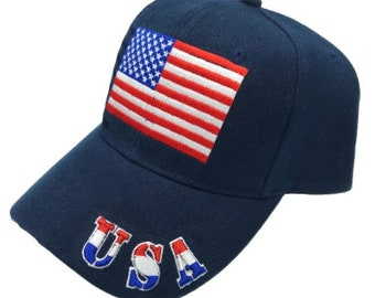New Usa United State Of America Embroidered Baseball Cap Hat
