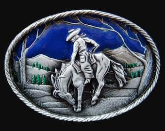 Rodeo Cowboy Cowgirl Horse Rider Western Belt Buckle