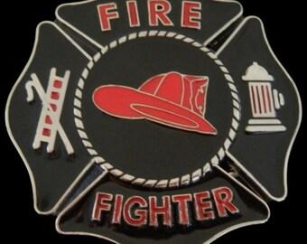 Firefighter Fireman Belt Buckles Firemen Red Helmet Fire Dept Buckle Belts