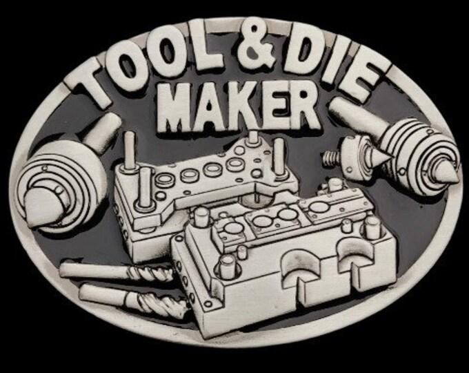Tool Die Maker Machinery Occupation Trade Belt Buckle Buckles
