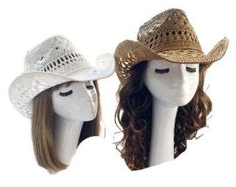 Straw Hat Summer Outdoor Men Women Western Cowboy Breathable Hats
