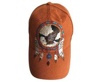Eagle Hat Baseball Cap Dream Catcher Feathers Native Indian Chapeau Casquette