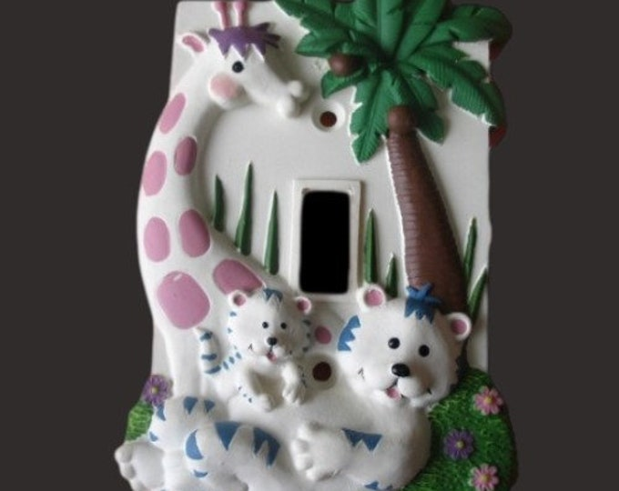 Children Baby Giraffe Zoo Toggle Light Switch Cover Plate