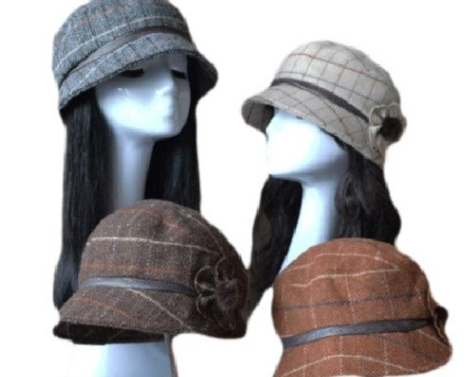 Women's Vintage Gatsby Style Wool Bucket Cloche Beanies Beret Winter Hats