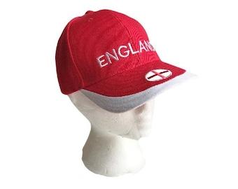 England Flag UK British Soccer All Sports Base Home Run Baseball Bat Players Cap