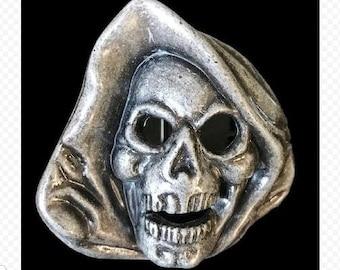 Grim Reaper Skull Skeleton Ghost Punk Belt Buckle
