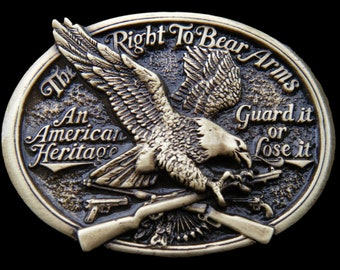 The Right To Bear Arms An American Heritage Eagle Belt Buckle