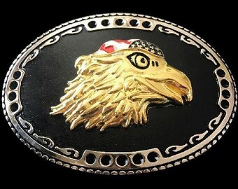 USA American Bald Eagle America Flag Belt Buckle