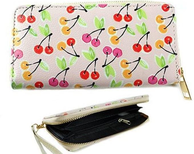 Cherry Cherries Fashion Women's Zipper Clutch Wallet