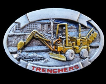 Trenchers Construction Excavator Profession Belt Buckle