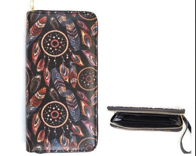 Dream Catcher Fashion Women's Zipper Clutch Wallet