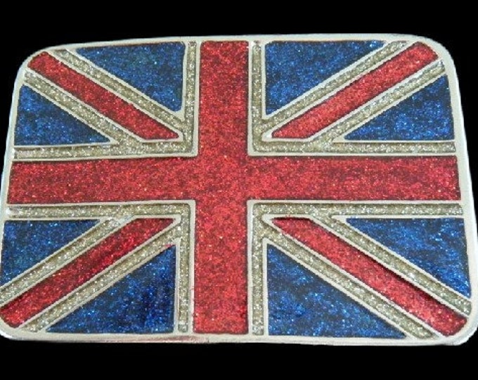 Britain British Union Jack United Kingdom Flag Belt Buckle