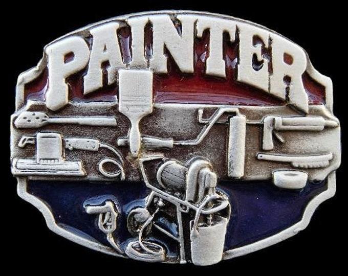 Painter Paint Paintbrush Painter Tools Belt Buckle Buckles