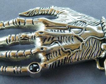 3D Skull Skeleton Hand Black Ring Evil Gothic Belt Buckle Buckles