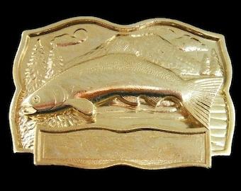 Fish Fishing Salmon Bass Bait  Fisherman Engraveable Belt Buckle
