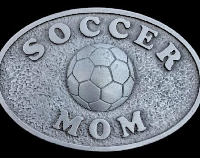 Soccer Mom Belt Buckle Sports Moms Valentine's Day Birthday Gifts Belts & Buckles