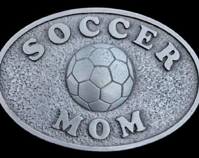Soccer Mom Belt Buckle Sports Mom's Birthday Gifts Belts & Buckles