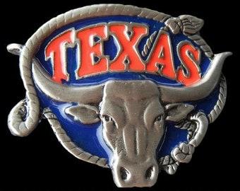 Famous Texas Longhorns Western Rodeo Belt Buckles