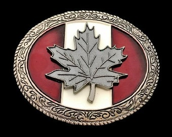 Canada Flag Belt Buckle Canadian Maple Leaf Flags Belts & Buckles