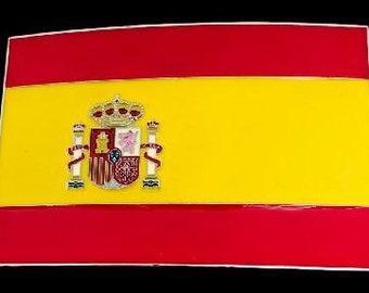 Spain Spanish Soccer  Flag Belt Buckle