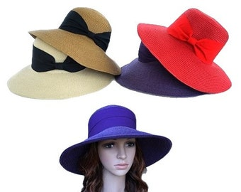 Women's Paper Beach Hat Sun Protection Summer Straw Caps Fashion Sun Cover