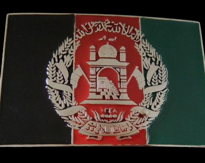Afghan Afghanistan Flag Belt Buckle Buckles