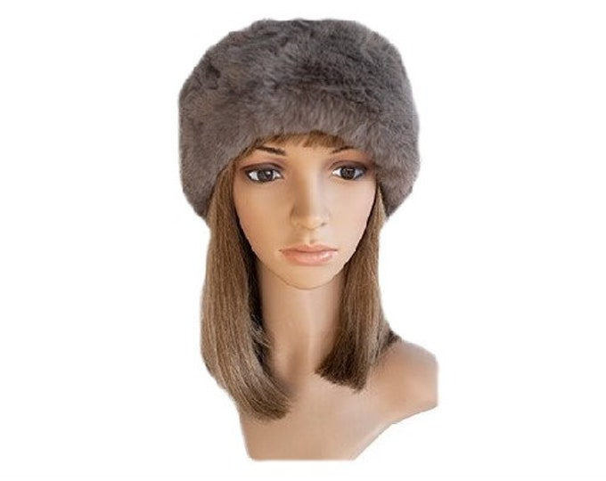 New Warm Cap Fashion Style Women's Faux Fur Russian Cossack Style Taupe Winter Hat