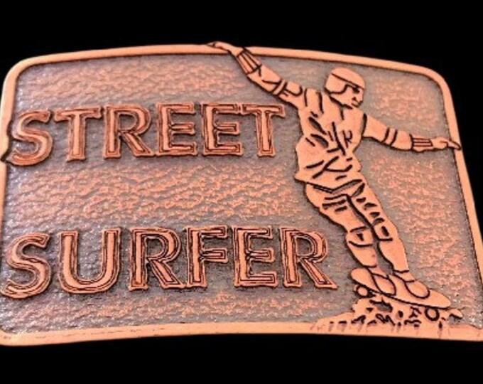 Skateboard Skateboarding Deck Extreme Gear Street Surfer Belt Buckle Sports