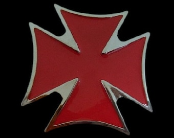Crusaders Red Cross Belt Buckle Malta Maltese Crusader Knights Templars Crosses Belts Buckles
