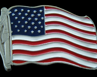 United States Of America USA Flag Belt Buckle American Flags Belts and Buckles