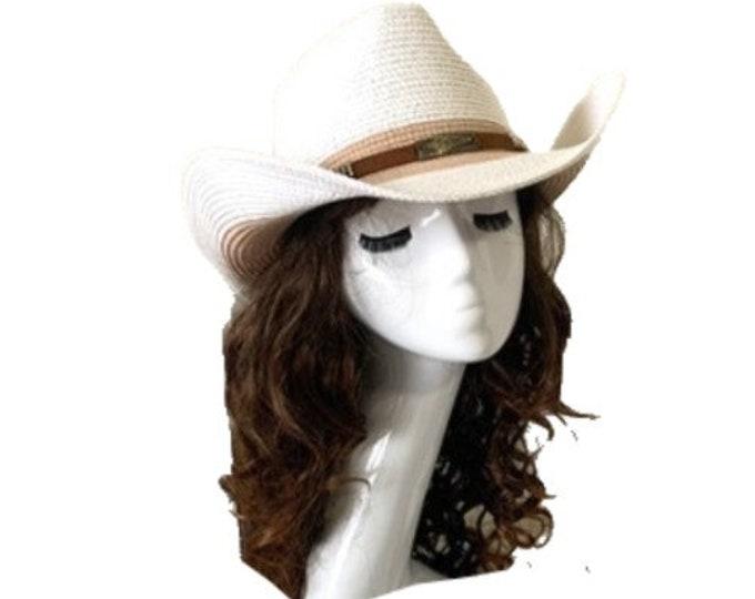 Straw Hat Summer Outdoor Men Women Western Cowboy Breathable Hats